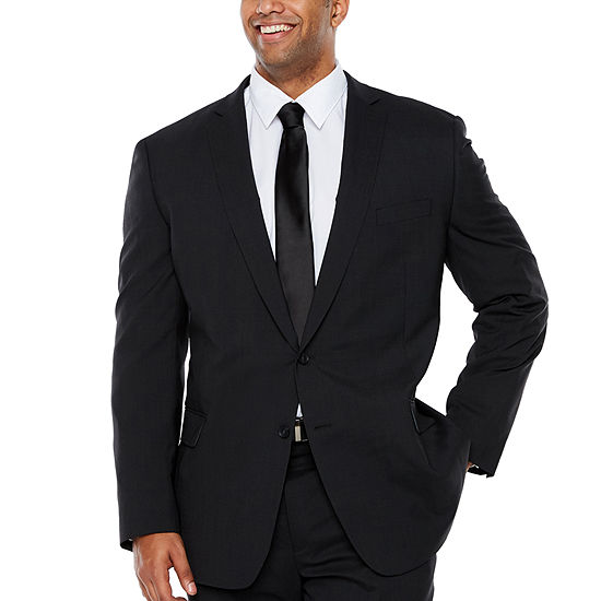 Claiborne-Big and Tall Striped Slim Fit Suit Jacket