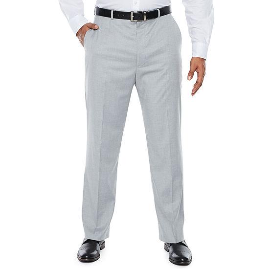 JF J.Ferrar Light Gray Suit Pants - Big & Tall