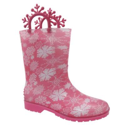 I <3 Yokids Big Kids Girls Rain Boots Water Resistant Flat Heel Pull-on