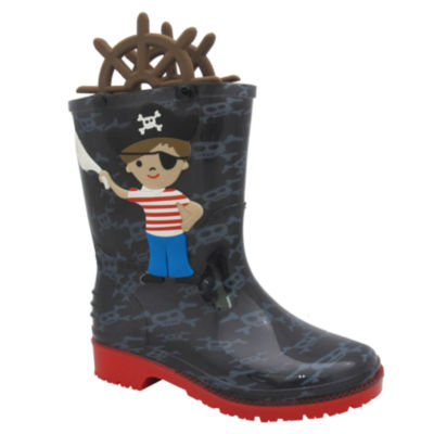 I Heart Yokids Boys Water Resistant Rain Boots - Toddler