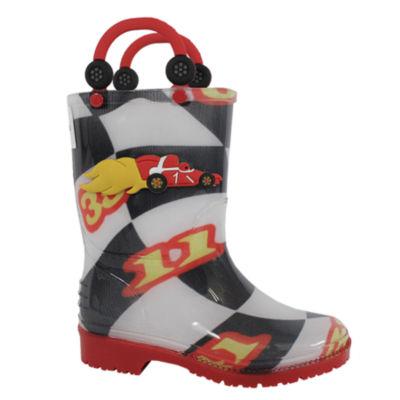 I <3 Yokids Girls Rain Boots Water Resistant Flat Heel Pull-on