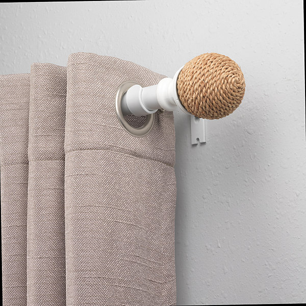 Bali Rope Ball 1 IN Curtain Rod