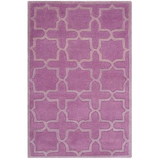 Safavieh Abbey Geometric Hand-Tufted Wool Rug