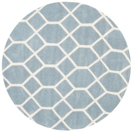 Safavieh Carson Geometric Hand-Tufted Wool Rug. One Size . Blue