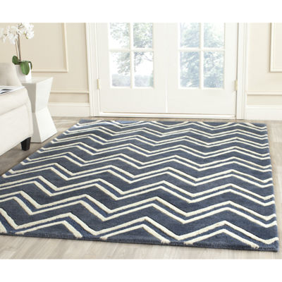 Safavieh Calanthe Chevron Hand-Tufted Wool Rectangular Rug