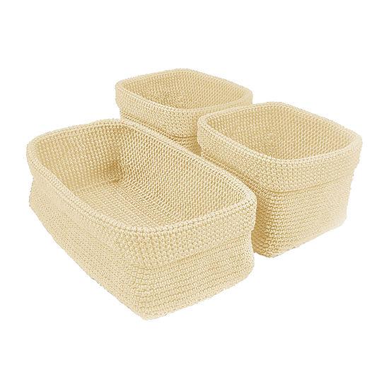 Design Imports Set of 3 Crocheted Baskets