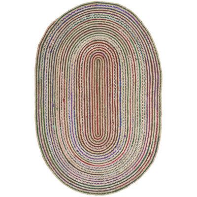 Safavieh Amaia Striped Oval Rug