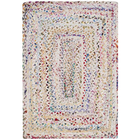 Safavieh Lecia Bordered Braided Cotton Rug