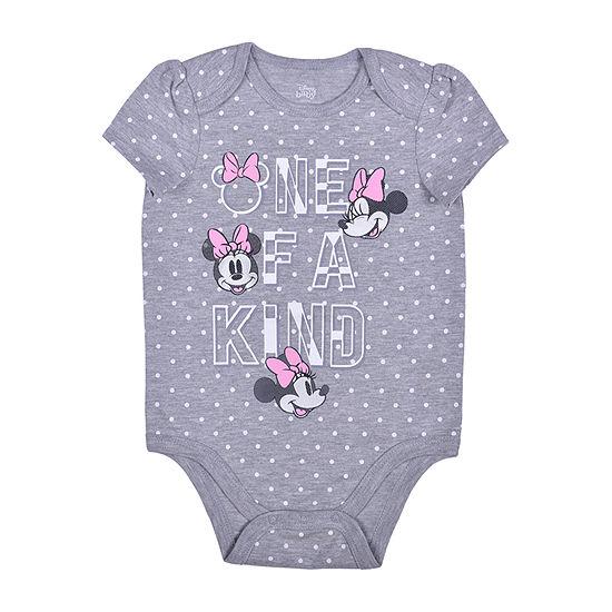 Okie Dokie Baby Girls Minnie Mouse Bodysuit