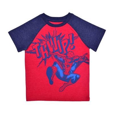Okie Dokie Toddler Boys Crew Neck Spiderman Short Sleeve Graphic T-Shirt