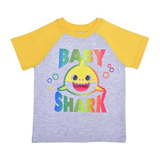 Okie Dokie Toddler Boys Crew Neck Baby Shark Short Sleeve Graphic T-Shirt