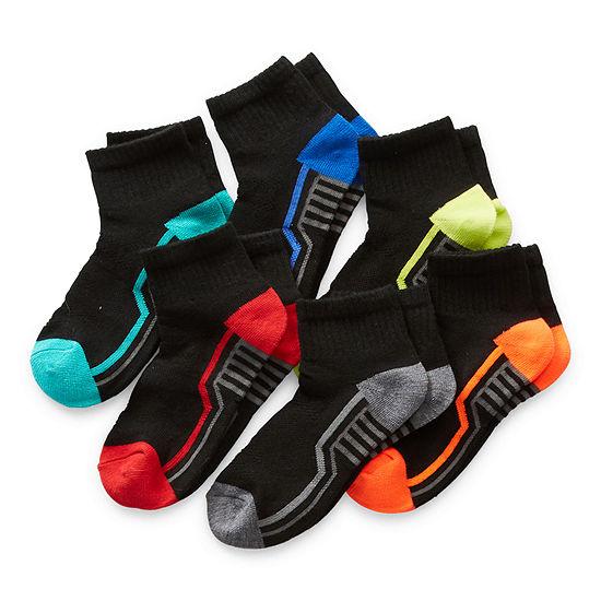 Xersion Little & Big Boys 6 Pair Quarter Socks