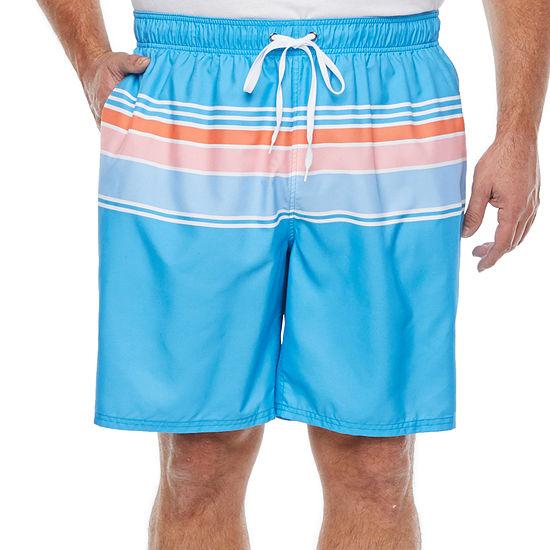 Peyton & Parker Mens Striped Swim Trunks Big and Tall