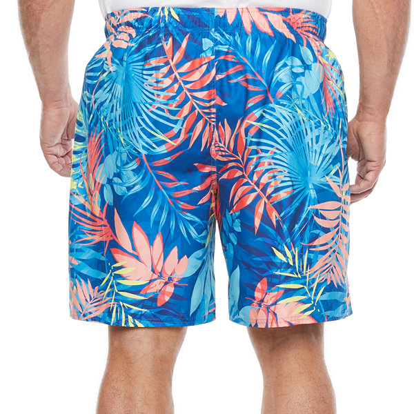 Peyton & Parker Mens Leaf Swim Trunks Big and Tall