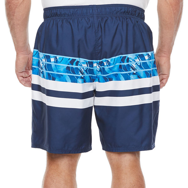 Peyton & Parker Mens Striped Swim Trunks Big and Tall