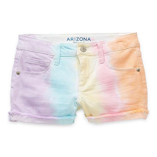 Arizona Little & Big Girls Adjustable Waist Shortie Short