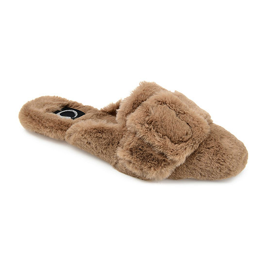 Journee Collection Eara Womens Slip-On Slippers