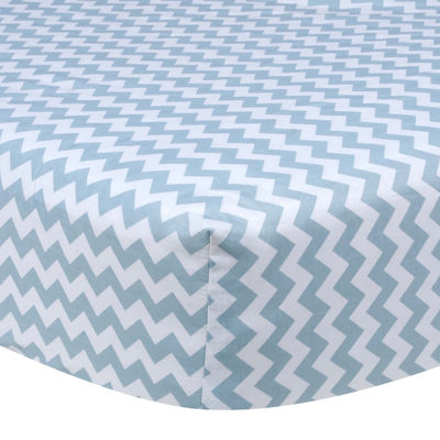 Trend Lab® Sky Blue Chevron Fitted Crib Sheet