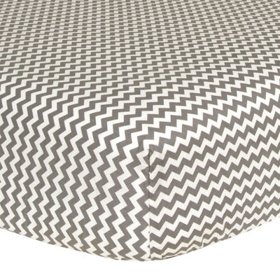 Trend Lab® Gray & White Chevron Fitted Crib Sheet