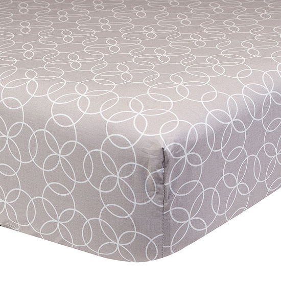 Trend Lab Gray Circles Fitted Crib Sheet