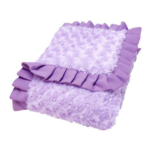 Trend Lab® Lilac Rosette Blanket