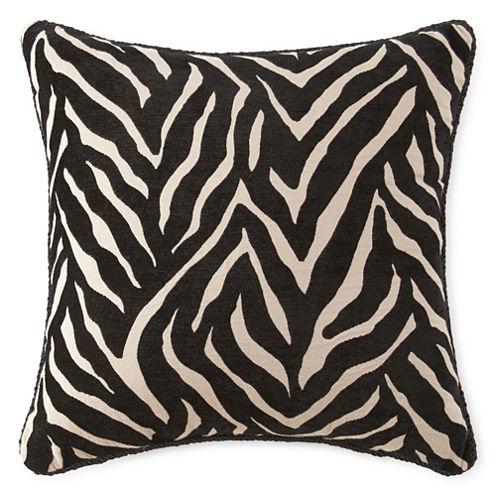 JCPenney Home™ Chenille Zebra Decorative Pillow