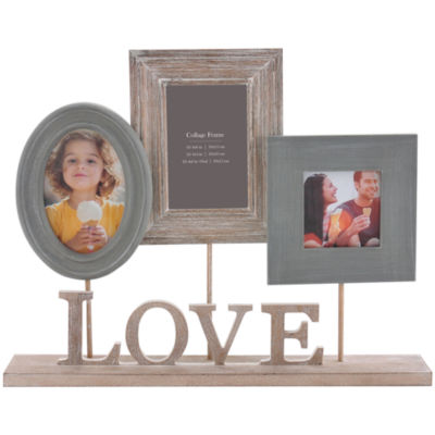 Burnes of Boston® Heartfelt Love Pedestal 3-Opening Collage Picture Frame