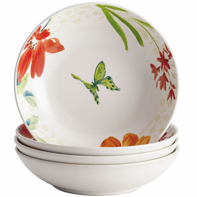 BonJour® Al Fresco Floral Set of 4 Fruit Bowls