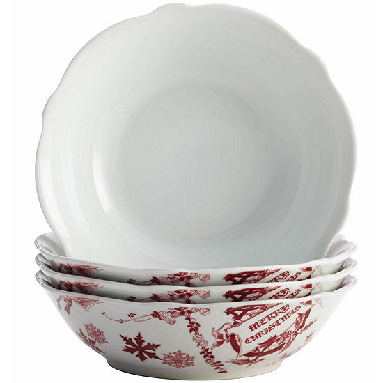 BonJour® Yuletide Set of 4 Cereal Bowls