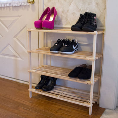 Lavish Home™ 4-Tier Shoe Storage Rack