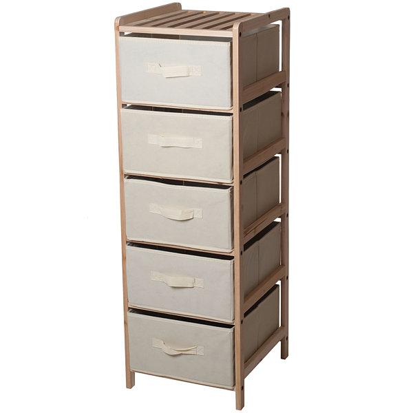 Lavish Home  Drawer Storage Unit With Shelf