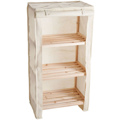 Lavish Home™ 3-Tier Storage Shelf with Removable Cover