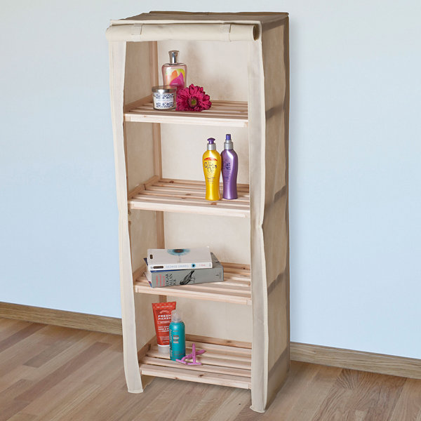 Lavish Home™ 4-Tier Storage Shelf with Removable Cover