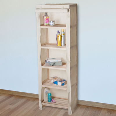 Lavish Home™ 5-Tier Storage Shelf with Removable Cover