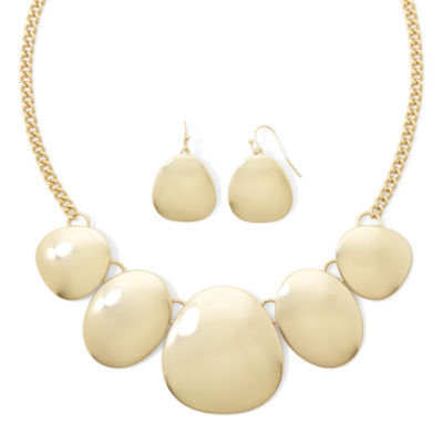 Liz Claiborne® Gold-Tone Shaky Disc Necklace and Earring Set