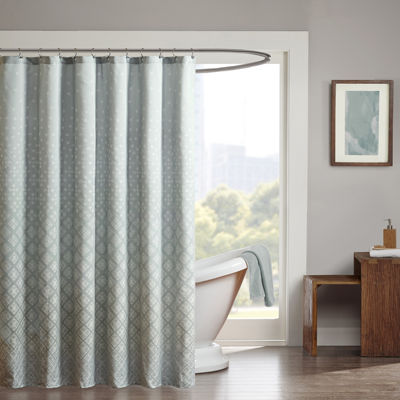 Madison Park Rae Jacquard Shower Curtain