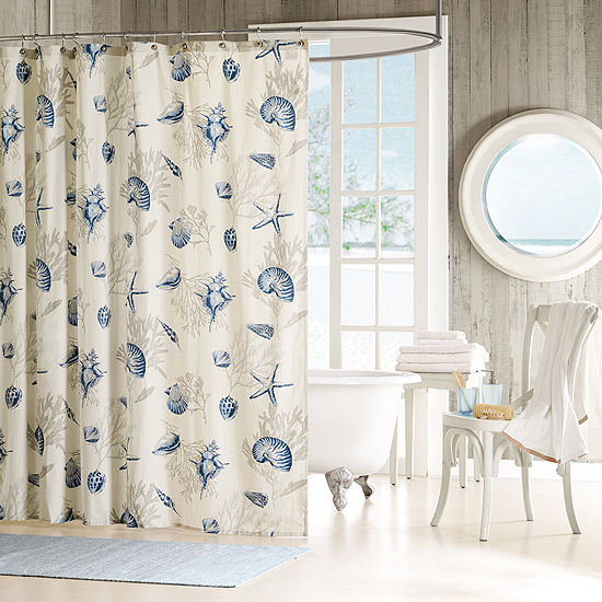 Madison Park Nantucket Seashell Shower Curtain