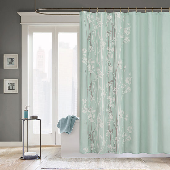 Madison Park Athena Floral Print Shower Curtain