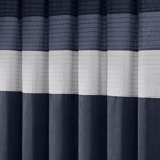 Madison Park Amador Faux Silk Shower Curtain