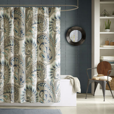 INK+IVY Mira Printed Cotton Shower Curtain