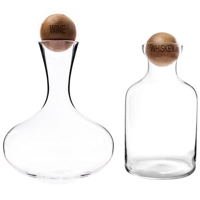 Cathy's Concepts Wine & Whiskey Decanter Set