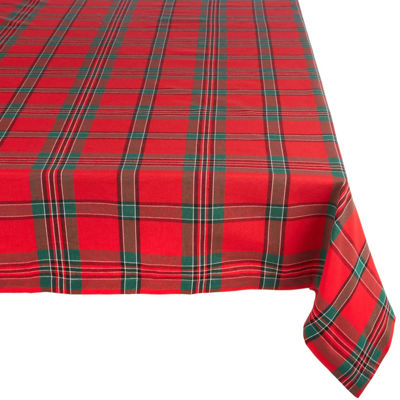 Design Imports Holiday Plaid Tablecloth