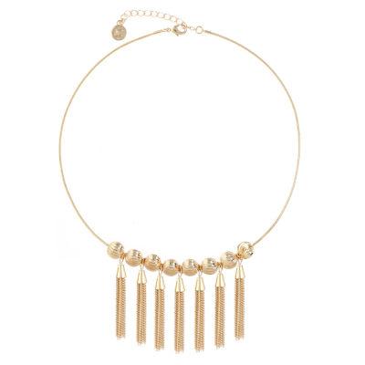 Liz Claiborne Womens Yellow Collar Necklace