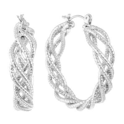 Monet Jewelry 32.2mm Hoop Earrings