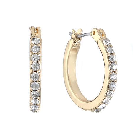 Monet Jewelry Hoop Earrings, One Size , White