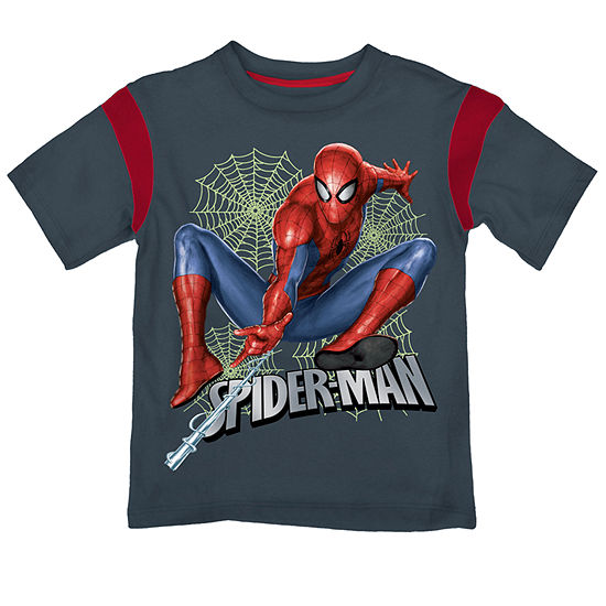 Boys Crew Neck Short Sleeve Spiderman Graphic T-Shirt - Preschool
