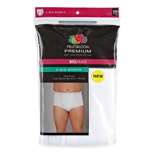 Fruit of the Loom® 3-pk. Premium Cotton Briefs - Big