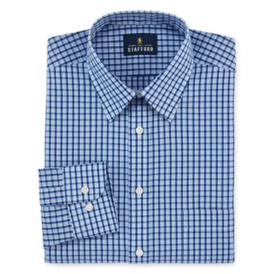 Stafford Travel Performance Super Long-Sleeve Broadcloth Pattern Dress Shirt