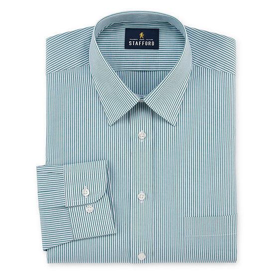 Stafford Travel Performance Super Long-Sleeve Broadcloth Stripe Dress Shirt