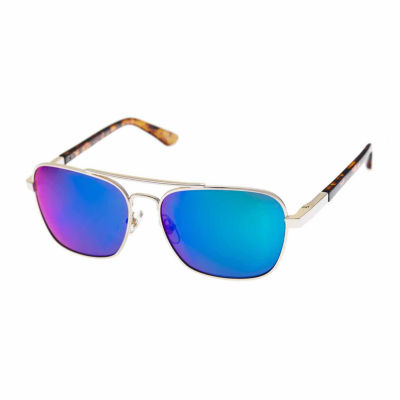 Arizona Men's Full Frame Rectangular Sunglasses